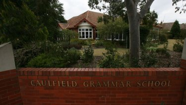Caulfield Grammar School charges fees of $29,355 a year for senior students.