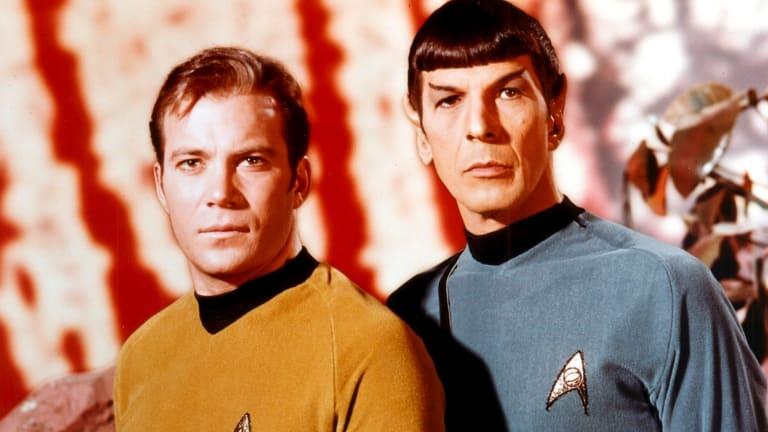 William Shatner with Leonard Nimoy in the original Star Trek.