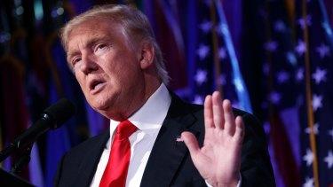 US Prsident-elect Donald Trump.