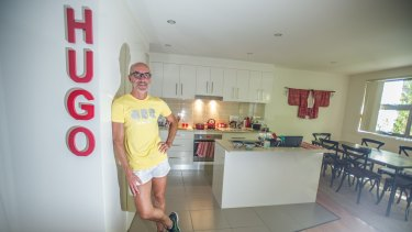 Hugo Walker at home.