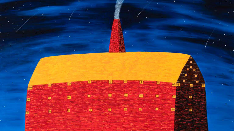Salt Contemporary Art in Queenscliff exhibits works by artists such as Dean Bowen and his saturated nocturnal landscapes such as <i>The Home of Kindness</i>.