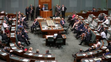 The government seen voting against putting their own small business budget measures to an immediate vote.