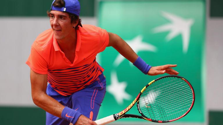 Thanasi Kokkinakis beat Nikoloz Basillashvili of Georgia.
