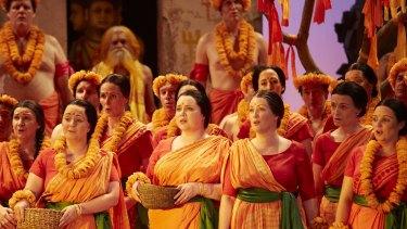 The Opera Australia Chorus perform in The Pearlfishers.