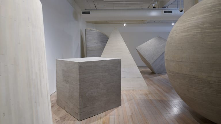 Thousands of books went into making Liu Wei's Density 1-6.
