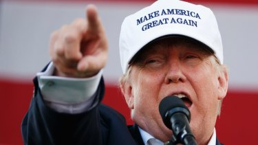 Arguably the biggest self-promoter in living memory: Donald Trump.