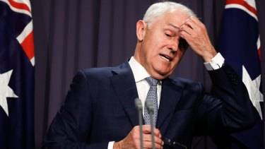 Under pressure: Prime Minister Malcolm Turnbull.