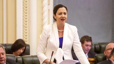 Opposition Leader Annastacia Palaszczuk.