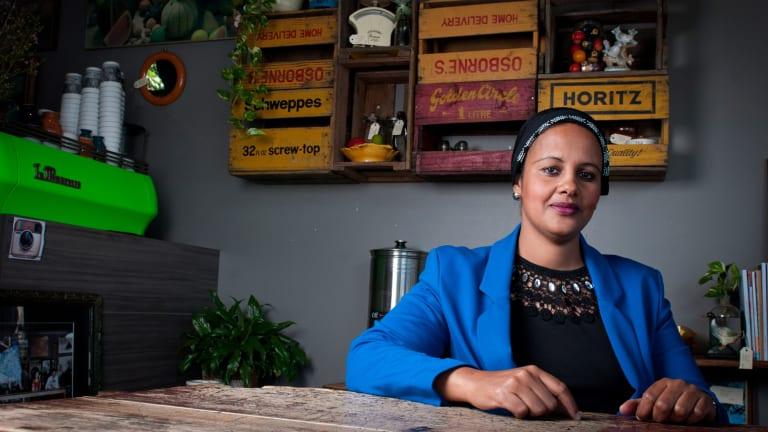 Somalian refugee Leila Abukar who hopes to enter politics.