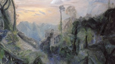 Detail of The sea with morning sun from Springbrook, 1996, by William Robinson.