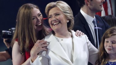 Chelsea Clinton, with her mother Hillary.