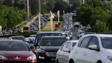 Traffic in Canberra is increasing overall travel times by 20 per cent.