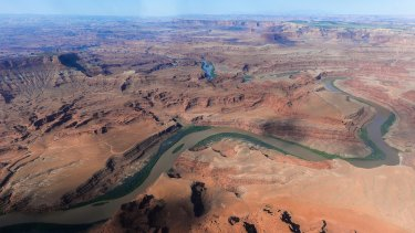 The northernmost boundary of the Bears Ears region, along the Colorado River in Utah.