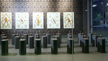 "A view of Nicola Dickson's ""Close Encounters""  CMAG exhibition."