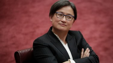 Senator Penny Wong's online profile has been sabotaged.