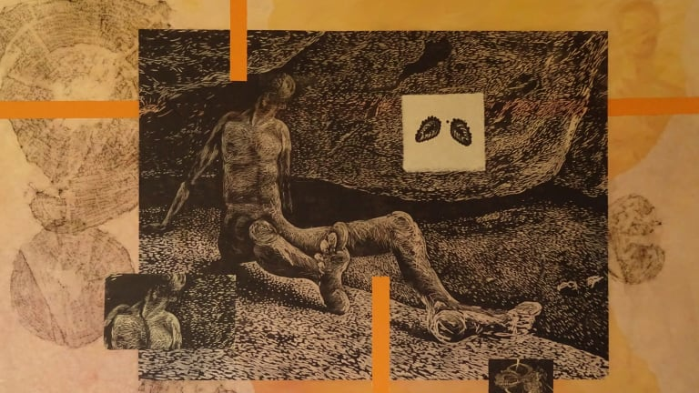Letting Go, by Peter McLean in The Endless Transience of Being at Megalo Print Studio + Gallery