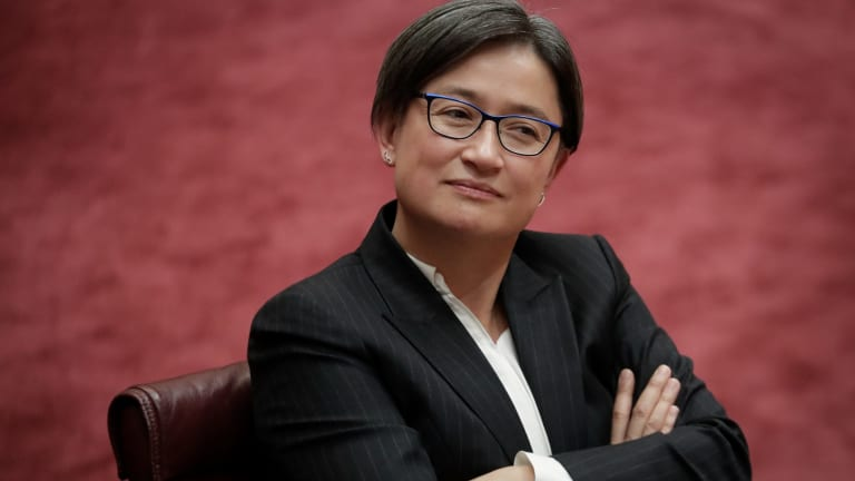 Senator Penny Wong's online profile has been sabotaged.