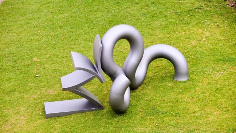 """Michael Le Grand, """"Recoil"""" in Sculpture by the Sea, Bondi, 2015."""