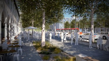 Future Canberra: An artist's impression of Northbourne Plaza.