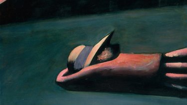 Charles Blackman, Prone Figure (detail), 1953, enamel on hardboard 79 x 93.5cm, Heide Museum of Modern Art, Melbourne, Purchased from John and Sunday Reed 1980. Copyright: Charles Blackman