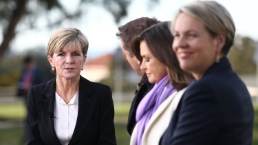 Deputy Liberal leader Julie Bishop and Deputy opposition leader Tanya Plibersek appeared on breakfast television outside Parliament House.