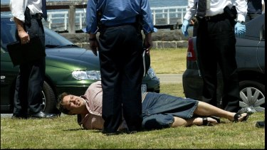 Carl Williams is arrested on Beaconsfield Parade, Port Melbourne.