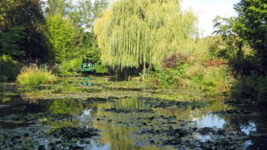 The gardens of Claude Monet's house in Giverny.