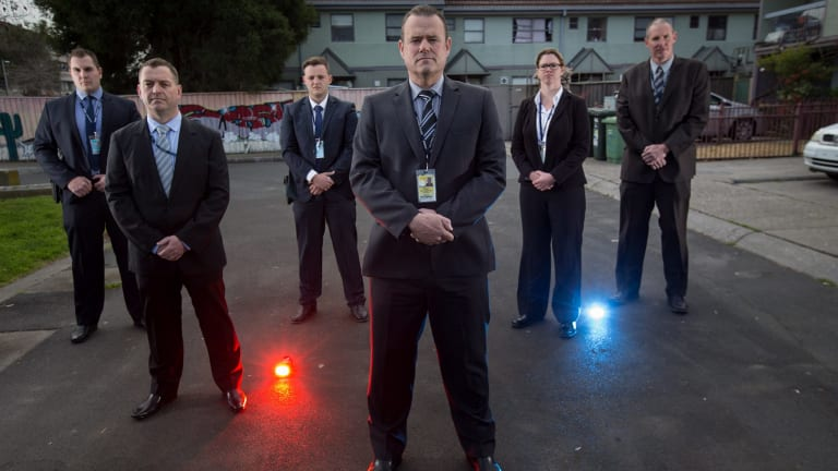Detectives from the newly-formed North West Metro Crime Squad (L-R): First Constable Arthur Ufnalski, Detective Sergeant Ken Ramage, First Constable Thomas Asciak, Detective Senior Sergeant Jeff Cocks, Senior Constable Meagan Cornish and Detective Sergeant Craig McSwain.