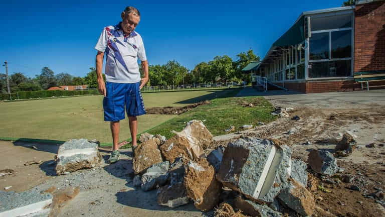 Bob Powell, president of the now defunct Canberra City Bowling Club.