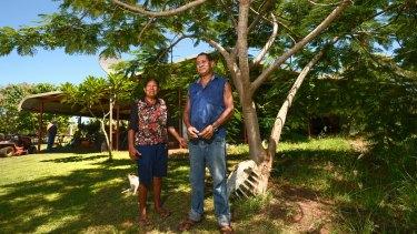 Delma and Alfonso Cox at their Dampier Peninsula home.