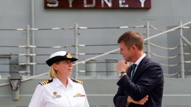 Premier Mike Baird talks to talks to Rebecca Jeffcoat.