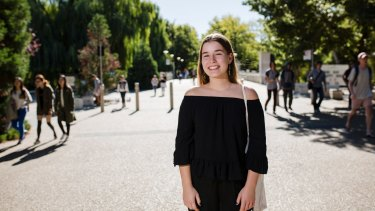 Second year ANU student Julia Beard has concerns about the dual pressure of having a study and home loan in the future.