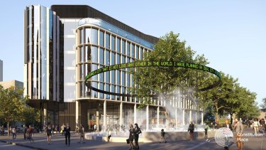 What the new hotel and office block may look like.