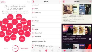 Unadventurous: Apple Music asks you to select from some limited styles, then serves the same thing back to you.