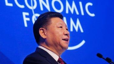 China's President Xi Jinping defending globalisation at the World Economic Forum in Davos, Switzerland.