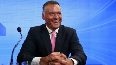 Journalist Stan Grant addresses the National Press Club of Australia in Canberra on February 22.