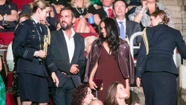 Meghan Markle and Markus Anderson, centre, at the opening ceremony of the Invictus Games in Toronto.