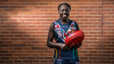 Mary Daw dreams of one day playing in the AFL women's league.