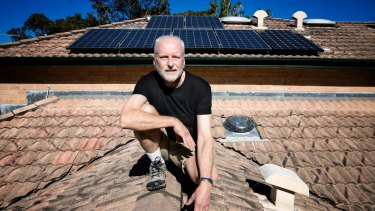 Peter Youll started with a small system but has now covered his roof in 20 solar panels.