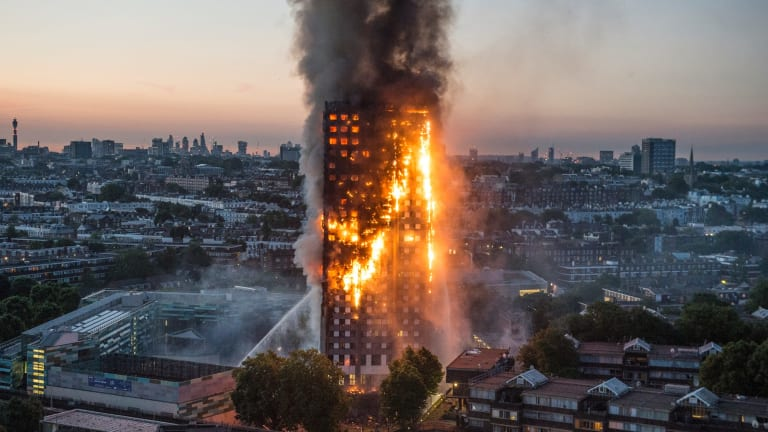 Did combustible cladding fuel the spread of the vicious Grenfell Tower fire?