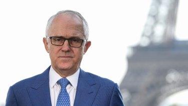 Prime Minister Malcolm Turnbull in Paris.