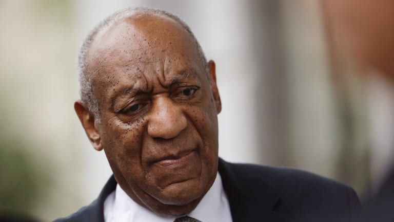 Mistrial: Bill Cosby arrives at the Montgomery County Courthouse.