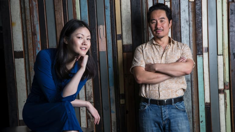 Actors Anthony Brandon Wong and Jenny Wu are the stars of Sydney Theatre Company's <i>Chimerica</i>.