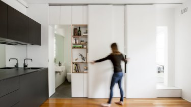 Sydney architect Brad Swartz renovated his 27-square-metre apartment with space-defying results.