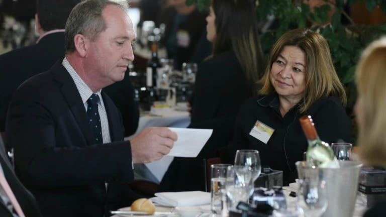 Deputy Prime Minister Barnaby Joyce and Michelle Guthrie during the Australian Farmer of the Year Awards at Parliament House in Canberra in August.
