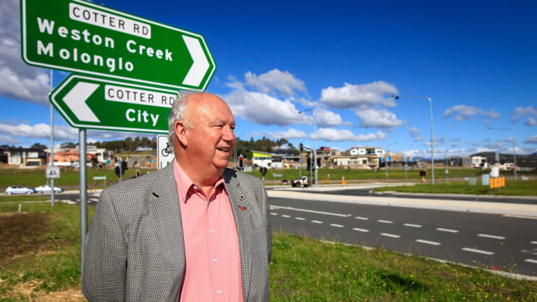 Weston Creek Community Council chairman Tom Anderson says the unduplicated section of Cotter Road has become a major bottleneck.