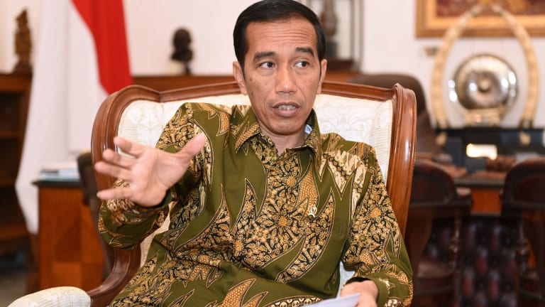 Hard line drug policy: Indonesian President Joko Widodo.