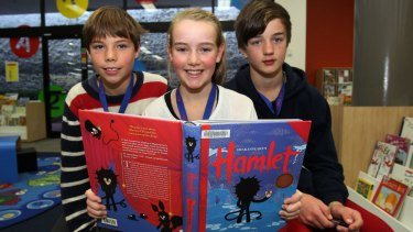 Gifted and talented primary school kids from the Illawarra studying Shakespeare.