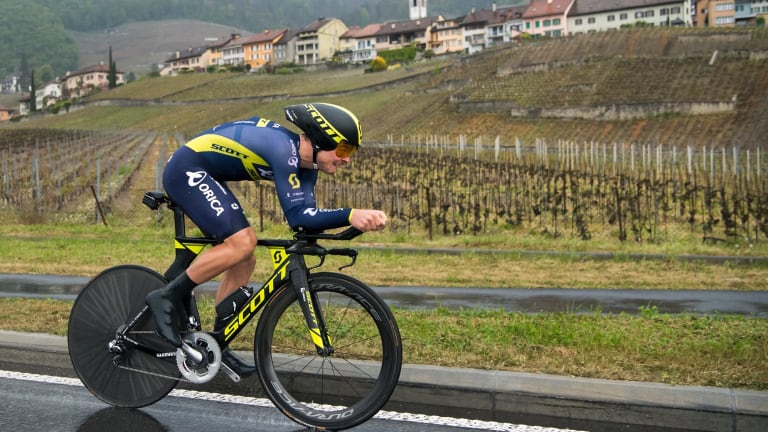 Well deserved: Alex Edmondson (pictured in Switzerland last year)  finished brilliantly to win the men's national elite road title.