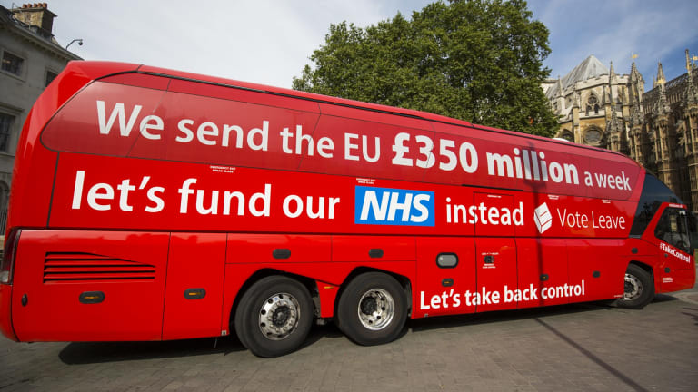Britain's National Health Services was used as part of the Leave campaign.